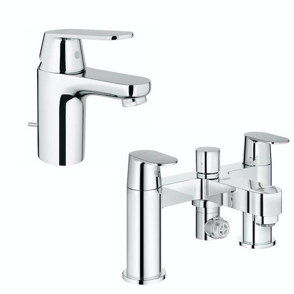 Grohe Eurosmart Cosmopolitan  basin and bath shower mixer tap pack