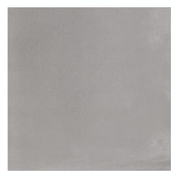 Granby grey flat stone effect matt wall and floor tile 457mm x 457mm