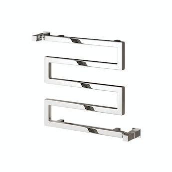 Reina Serpe chrome steel designer towel rail