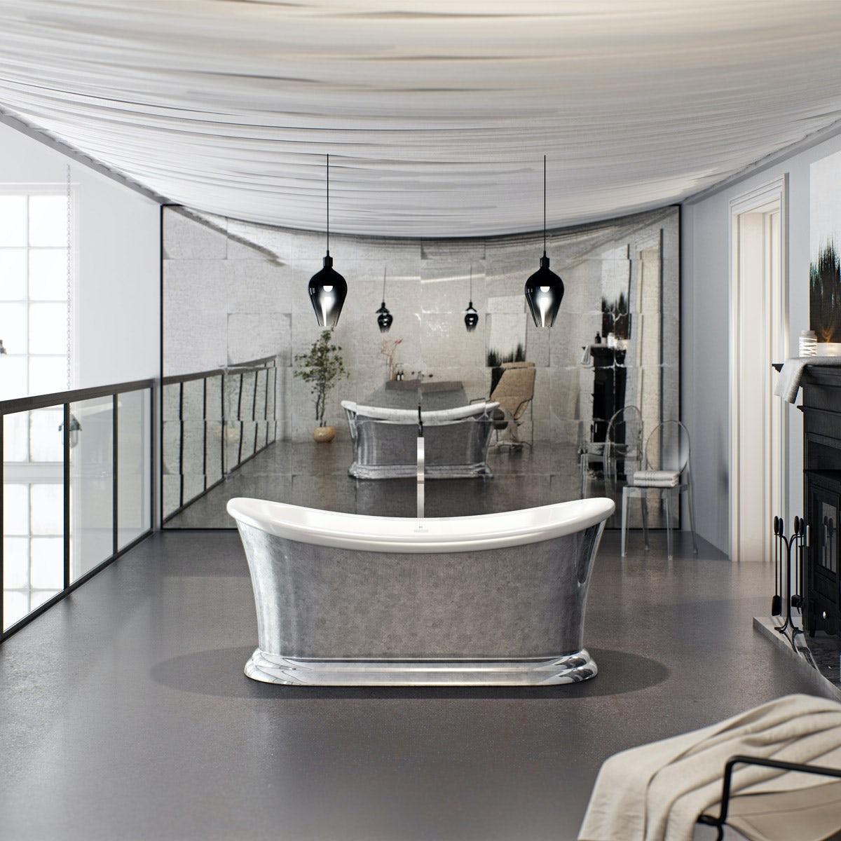 The Bath Co. Charlet metallic effect freestanding bath