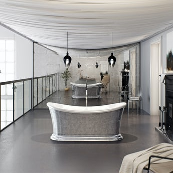 Belle de Louvain Charlet metallic effect freestanding bath