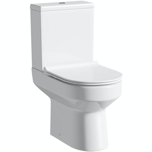 Oakley Close Coupled Toilet inc. Luxury Soft Close Slim Seat