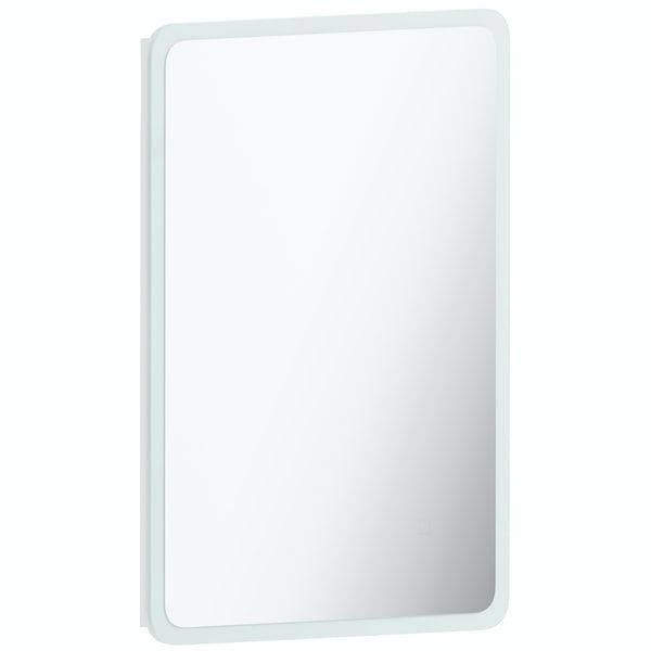 Mode Mayne curved LED illuminated mirror 500 x 700mm with demister