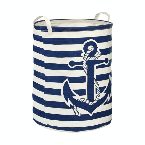 Accents Anchor navy and cream laundry hamper