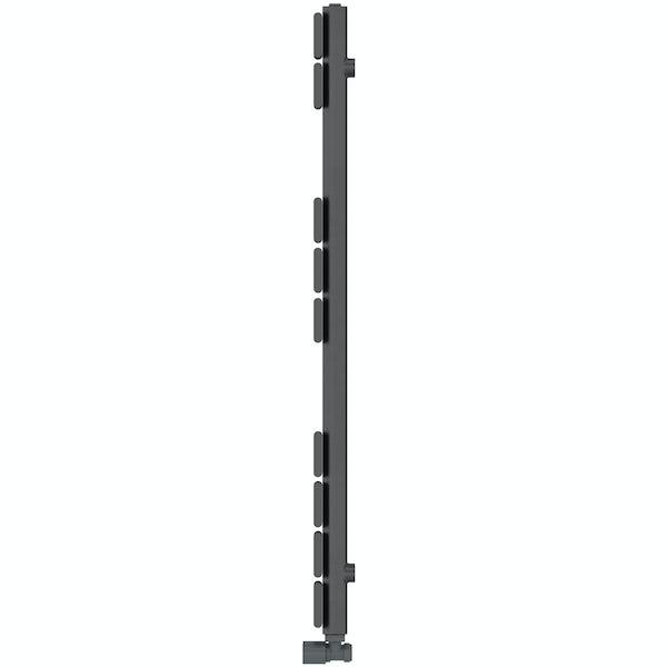 Orchard Wharfe anthracite grey heated towel rail