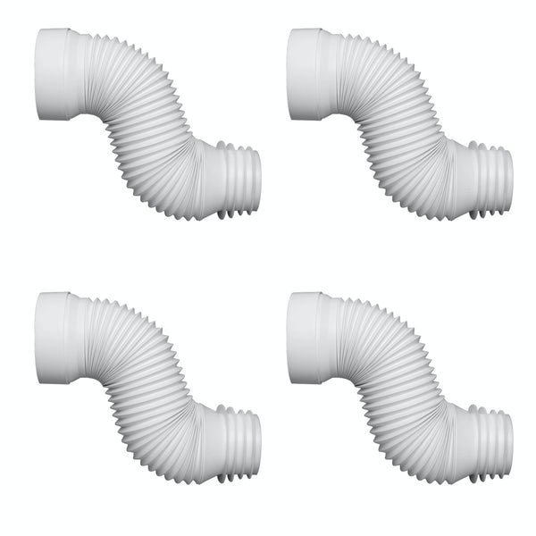 Pack of 4 Macdee Wirquin universal flexible toilet pan waste connectors