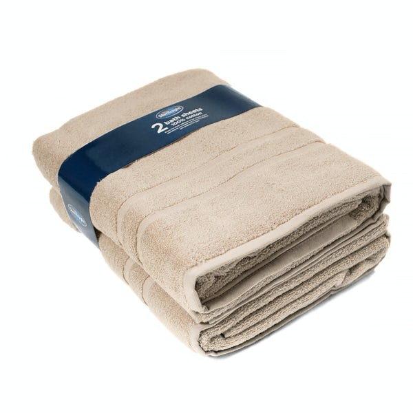 Silentnight Set of 2 Stone Bath Sheet