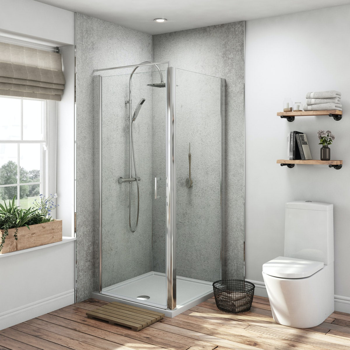 Multipanel Classic Arctic Stone Hydrolock Shower Wall