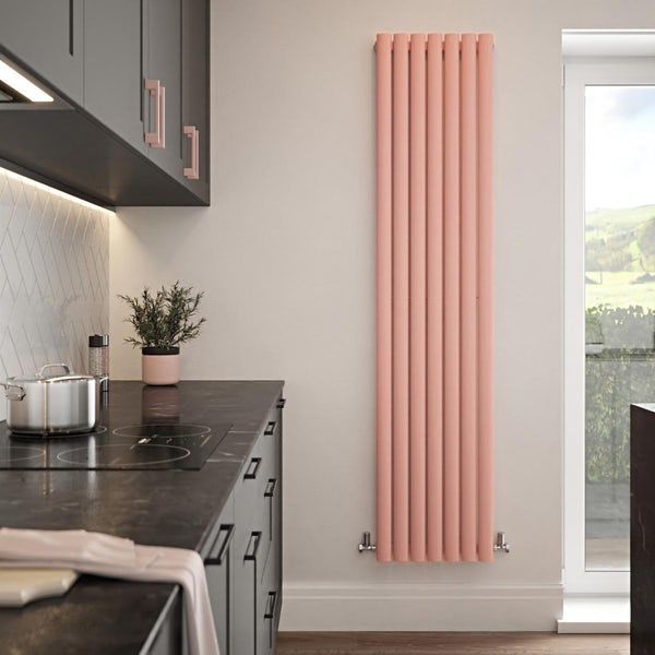 The Tap Factory Vibrance pink vertical panel radiator