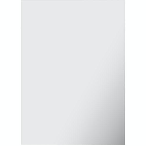 Accents bevelled edge rectangular mirror 70 x 50cm