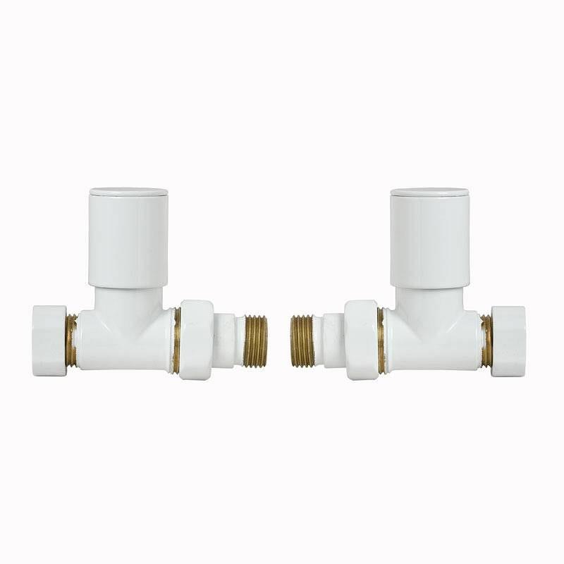 Clarity White Straight Radiator Valves