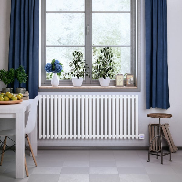 Terma Triga E sea salt white electric radiator with KTX 4 Blue element - white
