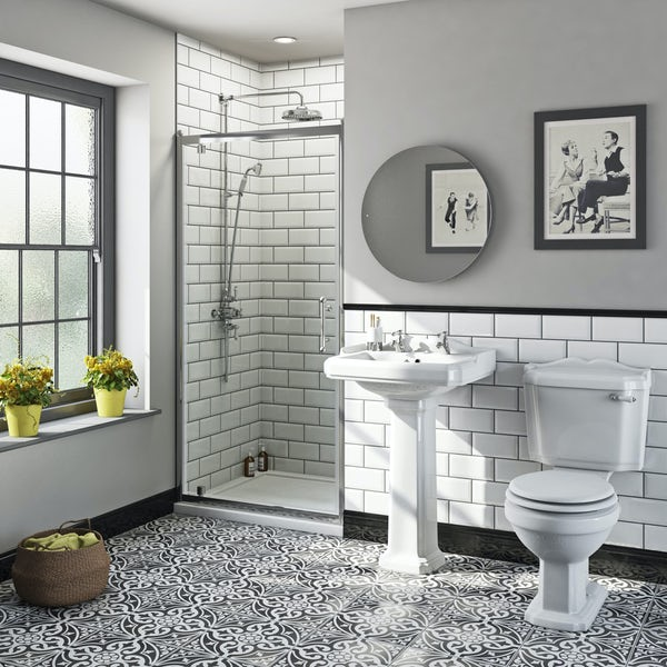 The Bath Co. Winchester traditional pivot shower door