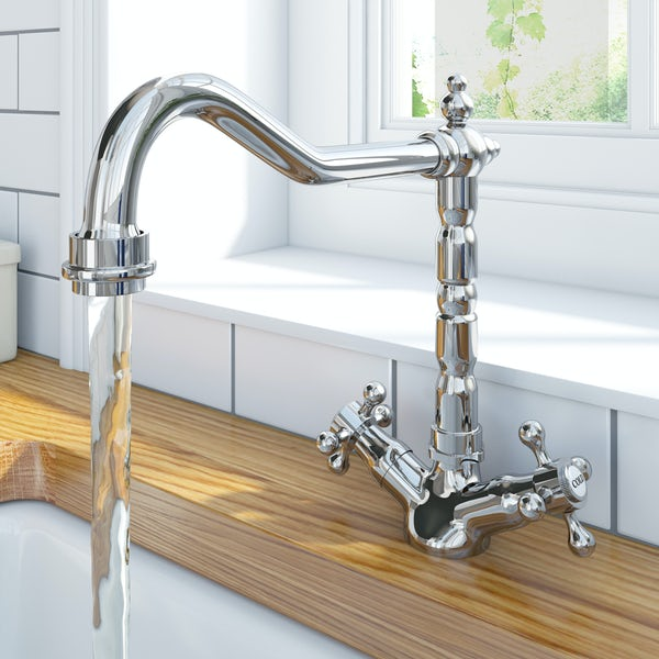 Schon traditional bridge kitchen tap