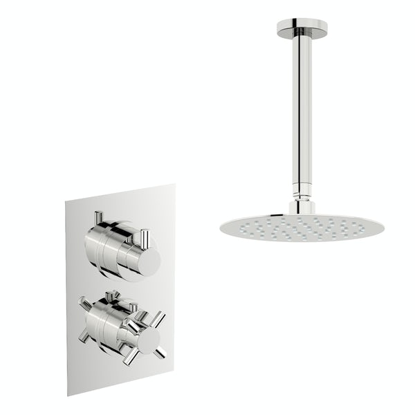 Mode Tate thermostatic mixer shower with ceiling shower head