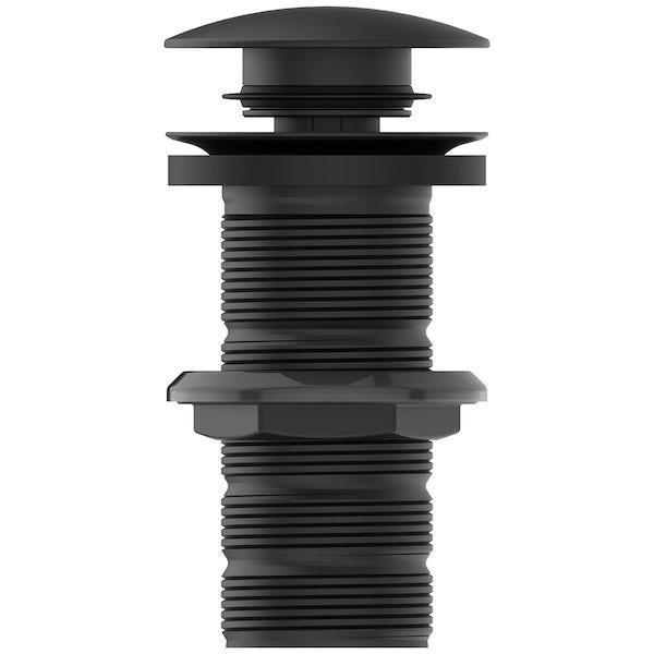 Ideal Standard silk black luxury clicker basin waste - unslotted
