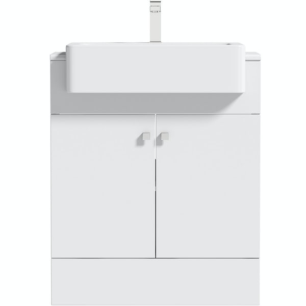 The Bath Co. Hatfield white floorstanding vanity unit 667mm