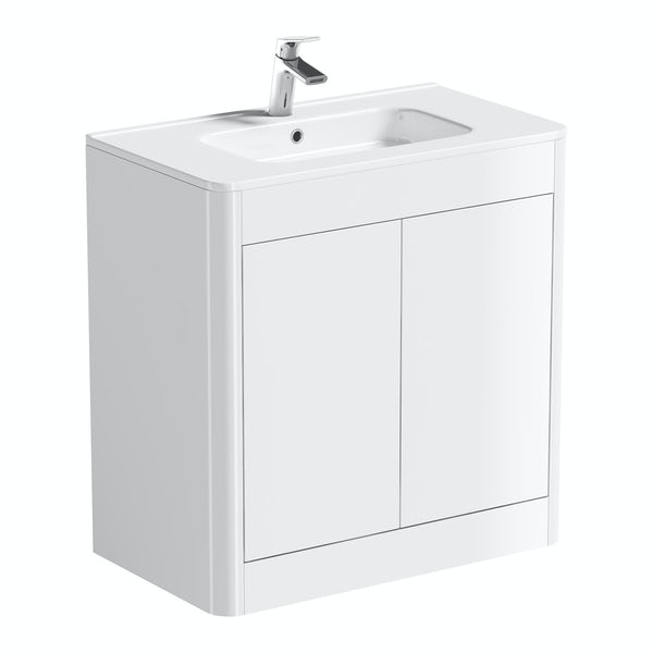 Mode Carter ice white furniture package with vanity unit 800mm