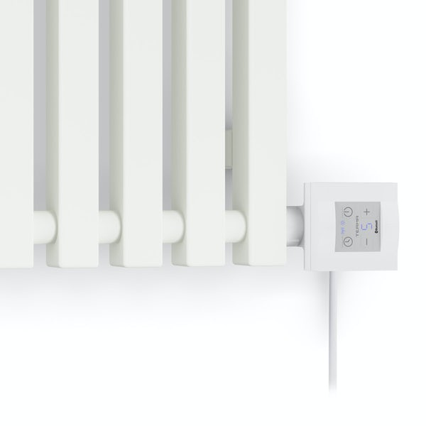 Terma Triga E sea salt white electric radiator with KTX 4 Blue element - white