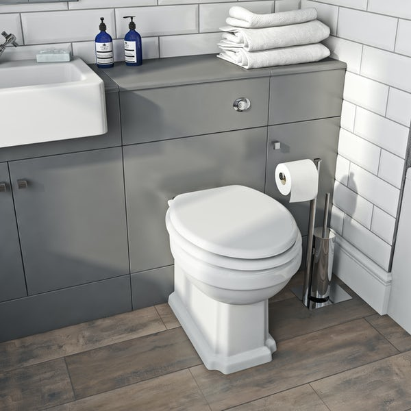 The Bath Co. Hatfield grey back to wall toilet unit 500mm