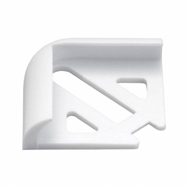 PVC White Tile Trim Corners (Pack of 2)