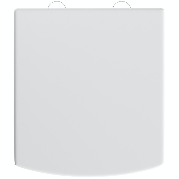 Orchard Vermont square thermoset replacement toilet seat with soft close hinges