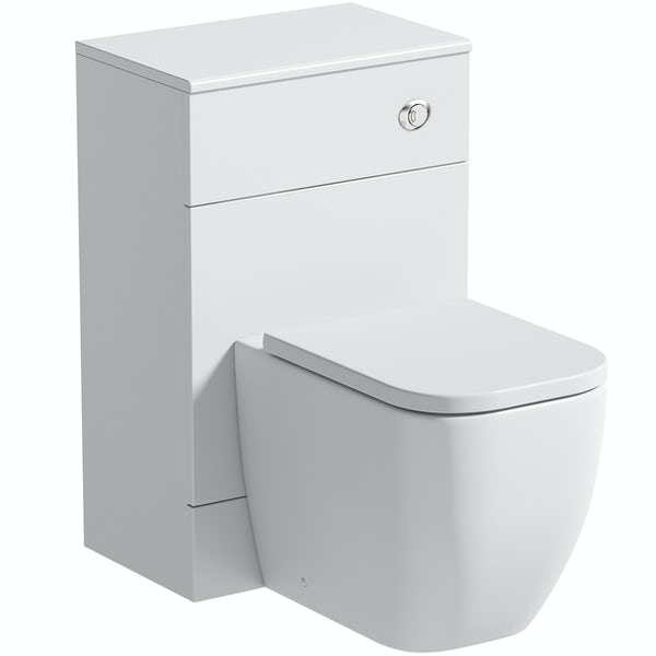 The Bath Co. Hatfield white back to wall toilet unit 500mm