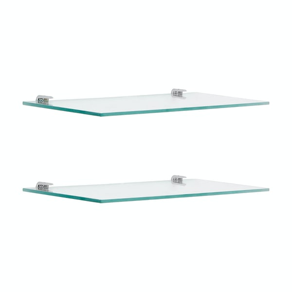 Accents Set of 2 wall mounted glass shelves