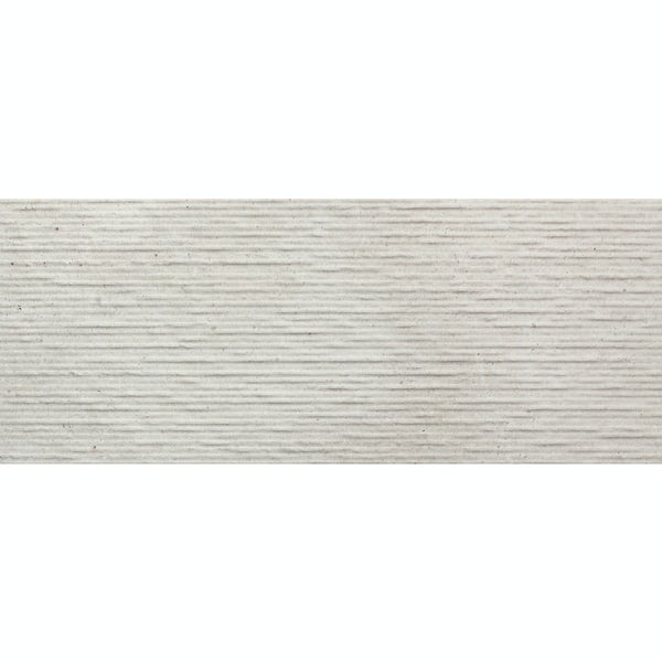 Drift light grey textured stone effect matt wall tile 200mm x 500mm