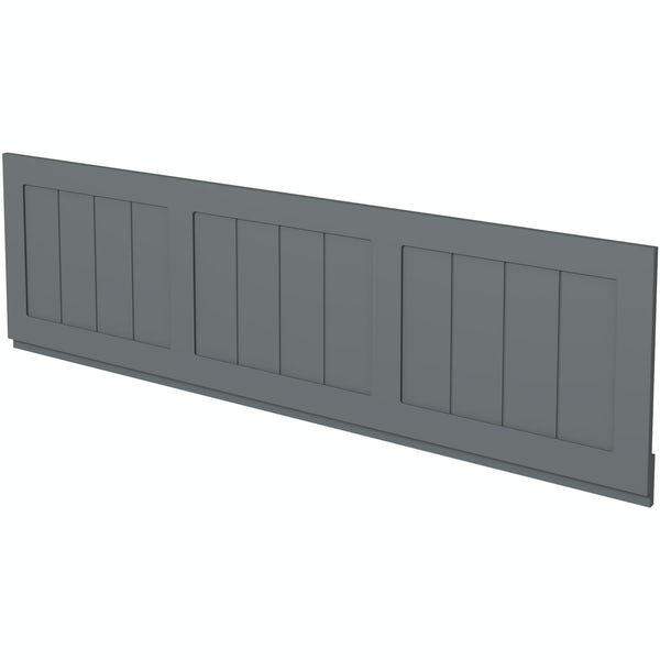The Bath Co. Dulwich stone grey wooden bath front panel 1700mm