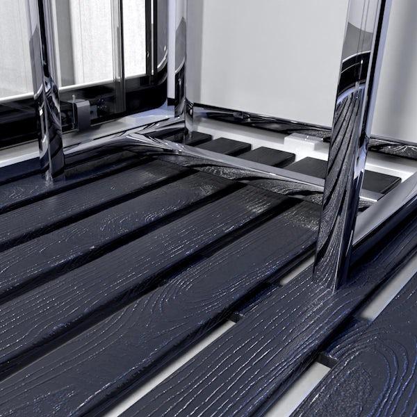 Insignia Monochrome rectangular steam shower cabin