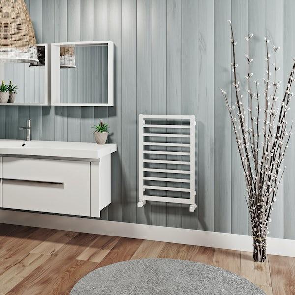 Mode Burton white heated towel rail 700 x 450