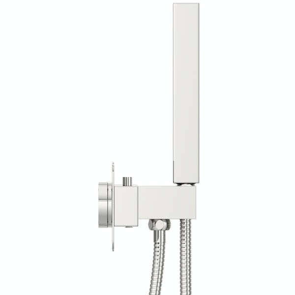 Mode Ellis sqaure twin thermostatic shower valve with diverter and handset