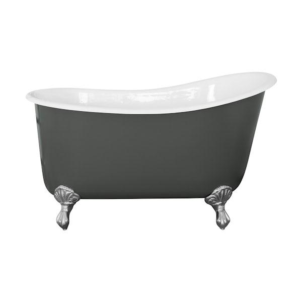 The Bath Co. Berkeley smoke grey cast iron bath