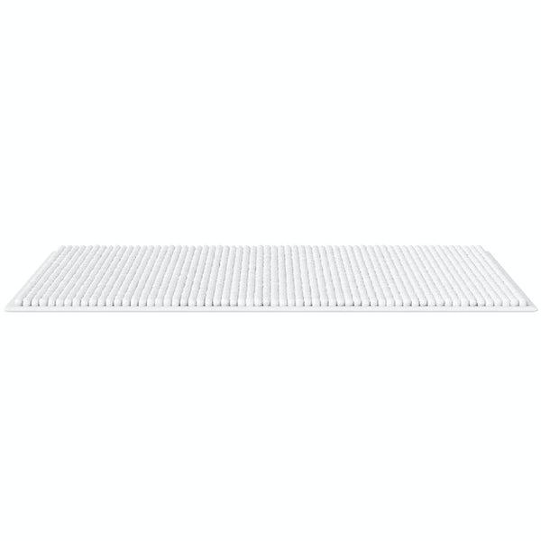 Accents white chenille bath mat