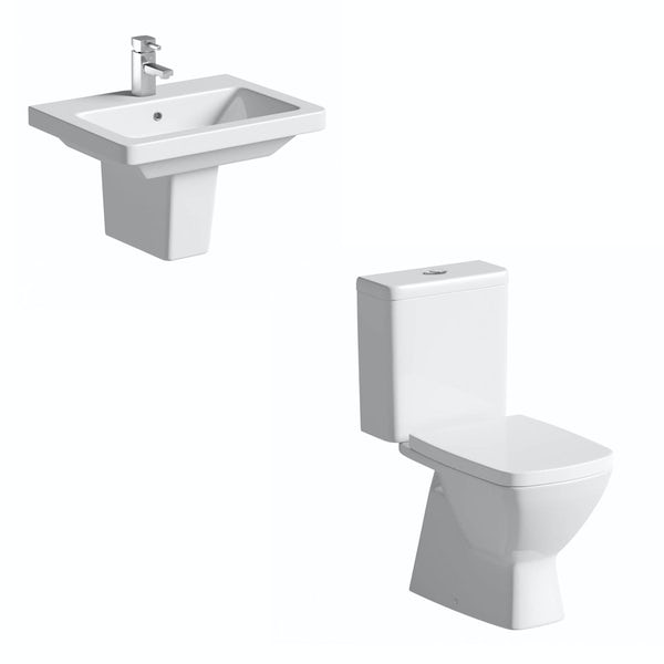 Cooper Semi Pedestal Bathroom Suite