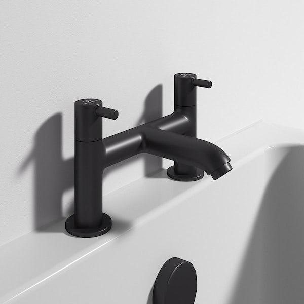 Ideal Standard Ceraline silk black bath mixer tap