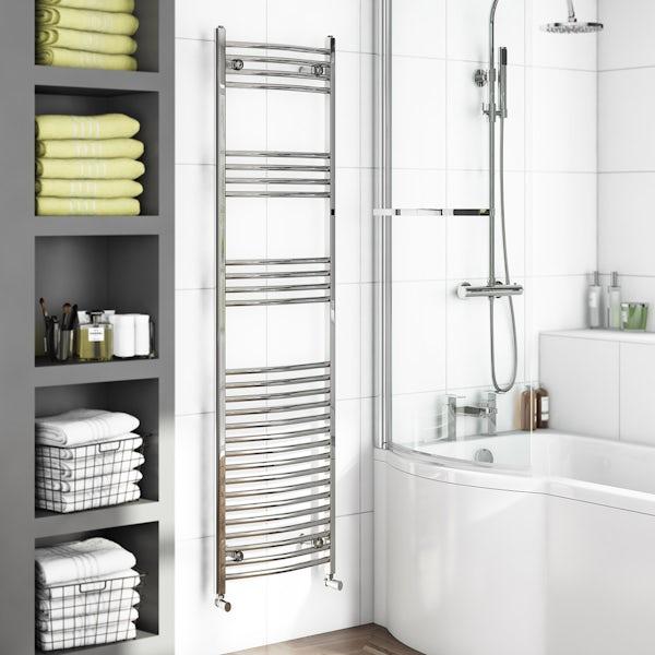 Curved Heated Towel Rail 1650 x 450