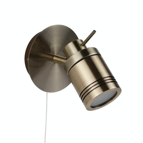 Searchlight Samson antique brass bathroom ceiling light