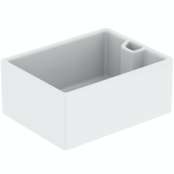 Tuscan Belfast ceramic gloss white sit in kitchen sink