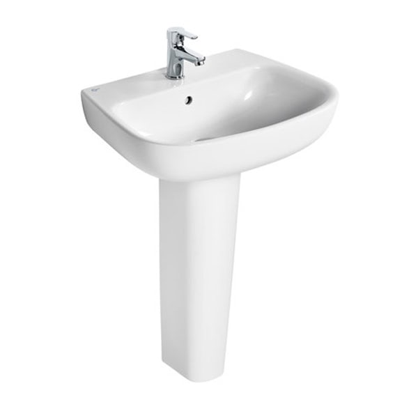 Ideal Standard Studio Echo 1 tap hole full pedestal basin 600mm