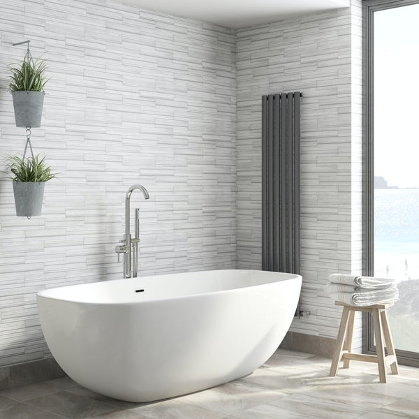 Fine Decor ceramica slate tile grey wallpaper