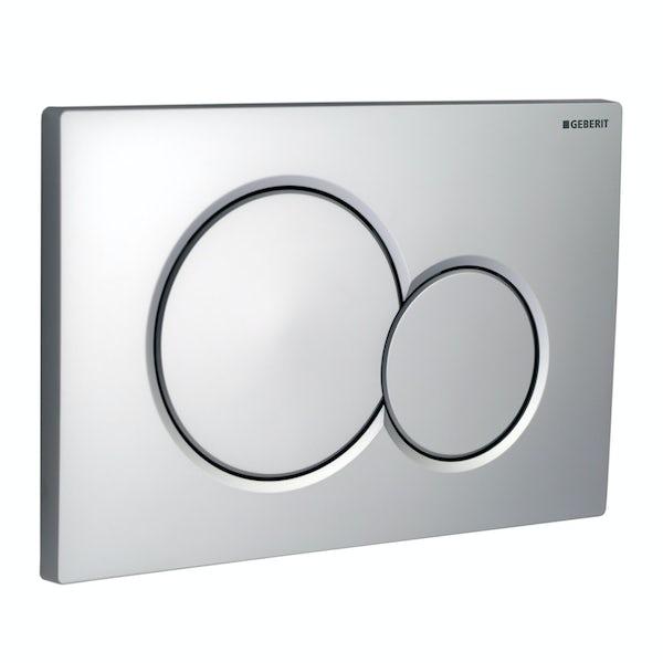Geberit Sigma01 dual flush plate matt chrome