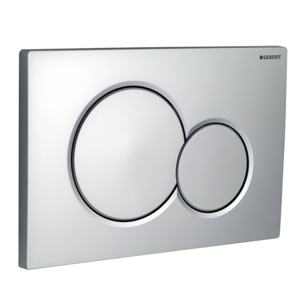 Geberit Sigma01 dual flush plate matt chrome