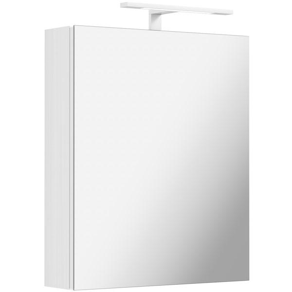 Mode Hale LED over & under lit mirror cabinet 500x600