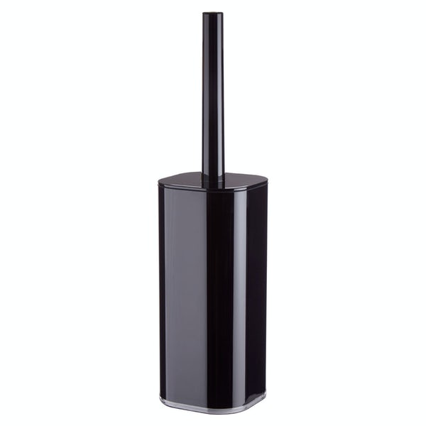 Accents Black acrylic toilet brush and holder