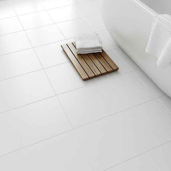 Laura Ashley Floor Tiles >> Laura Ashley white satin floor tile 331mm x 331mm