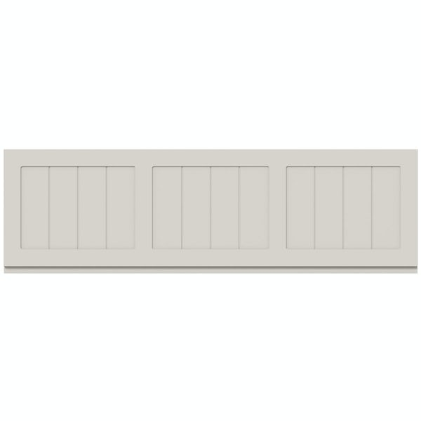 The Bath Co. Dulwich stone ivory wooden bath front panel 1700mm