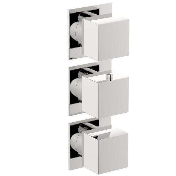 Mode Cooper square concealed triple valve offer pack