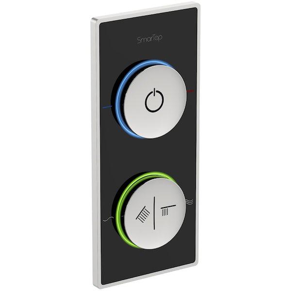 SmarTap smart shower system with black dual controller